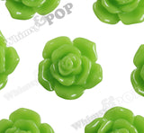 GREEn APPLE 16mm Pointy Rose Flower Cabochons - WhimsyandPOP