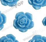LIGHT BLUE 16mm Pointy Rose Flower Cabochons - WhimsyandPOP