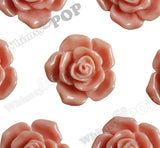 CORAL 16mm Pointy Rose Flower Cabochons - WhimsyandPOP