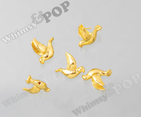 Flying Bird Gold Tone Beads - WhimsyandPOP