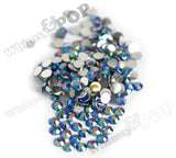 SS16 Montana Blue Crystal AB Faceted Flat Back Resin Rhinestones - WhimsyandPOP