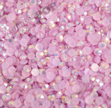 SS16 Jelly Pink Purple Crystal AB Faceted Flat Back Resin Rhinestones