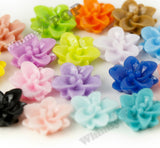 MIXED Color 12mm Small Lotus Flower Cabochons