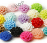 CORAL 10mm Honeycomb Mum Dahlia Flower Cabochons - WhimsyandPOP