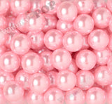 PINK 20mm Metallic Pearl Gumball Beads - WhimsyandPOP