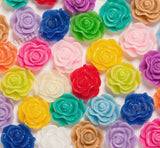 MIXED Color 13mm Classic Rose Flower Cabochons