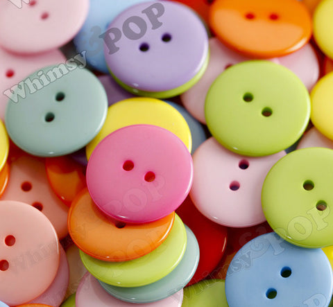 MIXED Color 23mm Resin Buttons