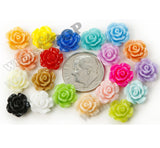 MIXED Color 10mm Small Detailed Flower Cabochons - WhimsyandPOP