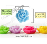 MIXED Color 10mm Small Detailed Flower Cabochons