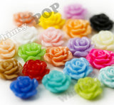 GRAY 10mm Small Detailed Flower Cabochons - WhimsyandPOP