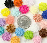 MIXED Color 11mm Blooming Rose Flower Cabochons - WhimsyandPOP