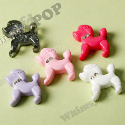 Mixed Color Poodle Puppy Cabochons