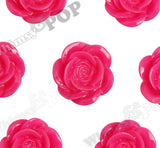 HOT PINK 18mm Flower Cabochons - WhimsyandPOP