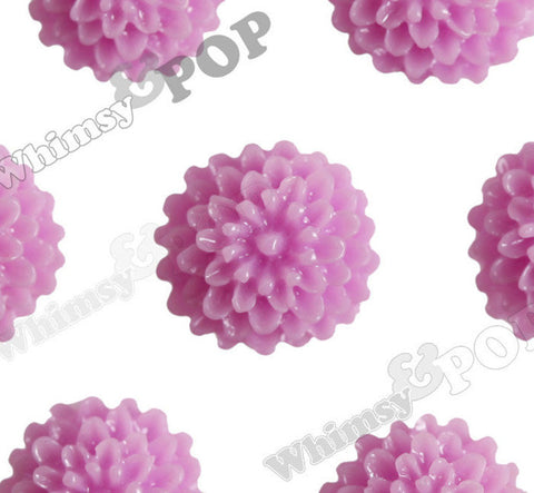 LILAC PURPLE 10mm Tiny Dahlia Flower Cabochons - WhimsyandPOP