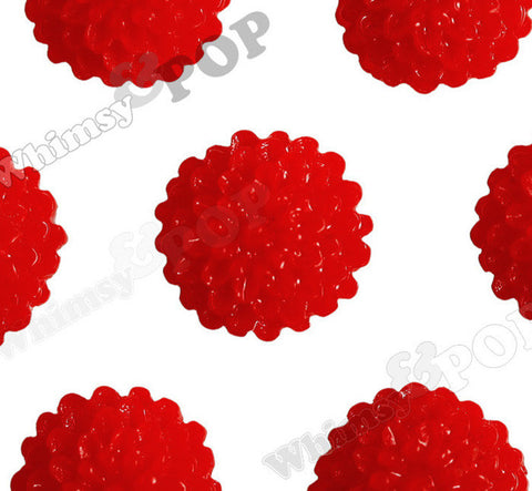RED 10mm Tiny Dahlia Flower Cabochons - WhimsyandPOP