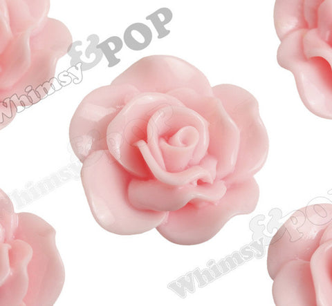 PINK 28mm Begonia Flower Cabochons - WhimsyandPOP