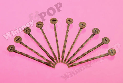 ANTIQUE BRONZE 52mm Bobby Pin Blanks - WhimsyandPOP