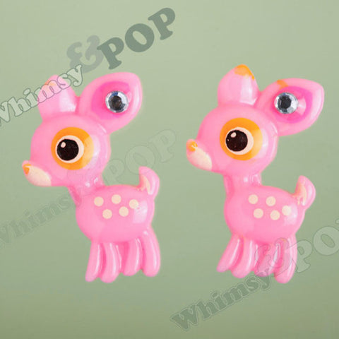 Pink Baby Deer Cabochons - WhimsyandPOP