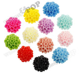 PINK 20mm Dahlia Chrysanthemum Flower Cabochons