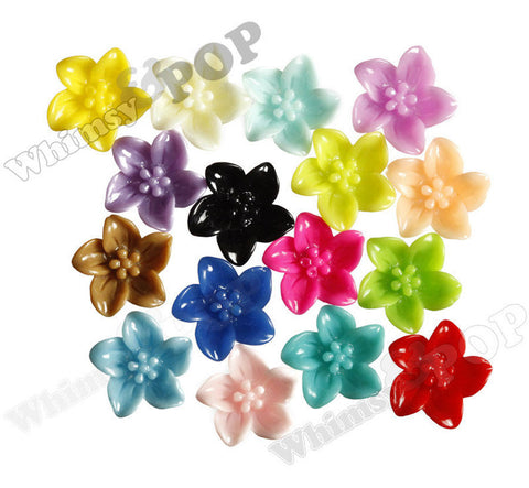 MIXED Color 13mm Lily Flower Cabochons - WhimsyandPOP