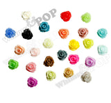 MIXED Color 7mm Teeny Tiny Flower Cabochons - WhimsyandPOP