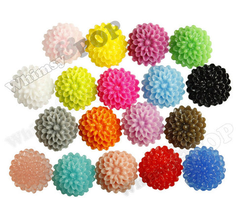 MIXED Color 10mm Tiny Dahlia Flower Cabochons - WhimsyandPOP
