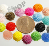 CORAL 10mm Tiny Dahlia Flower Cabochons - WhimsyandPOP
