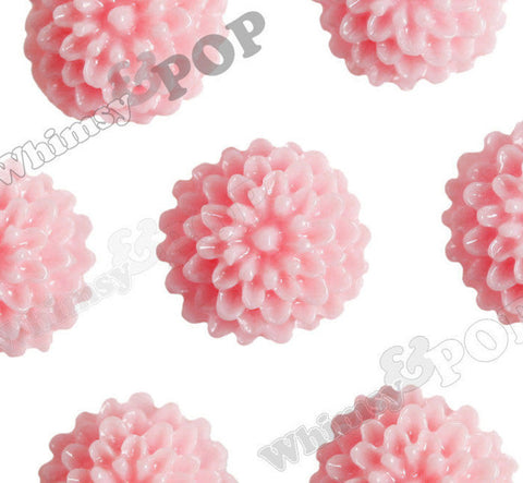 PINK 10mm Tiny Dahlia Flower Cabochons - WhimsyandPOP