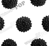BLACK 10mm Tiny Dahlia Flower Cabochons - WhimsyandPOP