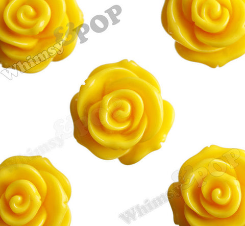 YELLOW 23mm Rose Bud Flower Beads - WhimsyandPOP