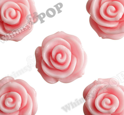 PINK 23mm Rose Bud Flower Beads