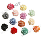 MIXED Color 15mm Open Bud Rose Flower Cabochons - WhimsyandPOP