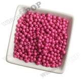 HOT PINK 6mm Solid Gumball Beads - WhimsyandPOP