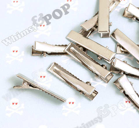 35mm Silver Flat Alligator Clips - WhimsyandPOP
