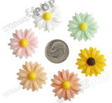 RED 22mm Gerber Daisy Flower Cabochons - WhimsyandPOP