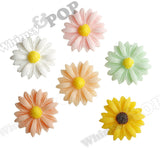 MIXED Color 22mm Gerber Daisy Flower Cabochons - WhimsyandPOP