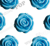 LIGHT BLUE 23mm Rose Bud Flower Beads - WhimsyandPOP