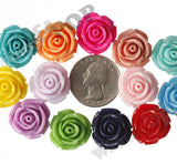 MIXED Color 19mm Rose Flower Cabochons - WhimsyandPOP