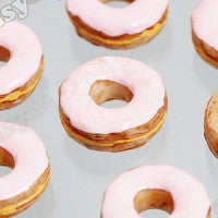 Pink Icing Donut Cabochons - WhimsyandPOP