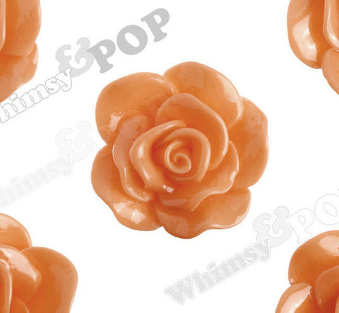 ORANGE 28mm Begonia Flower Cabochons