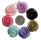MIXED Color 21mm Rose Bud Flower Beads - WhimsyandPOP