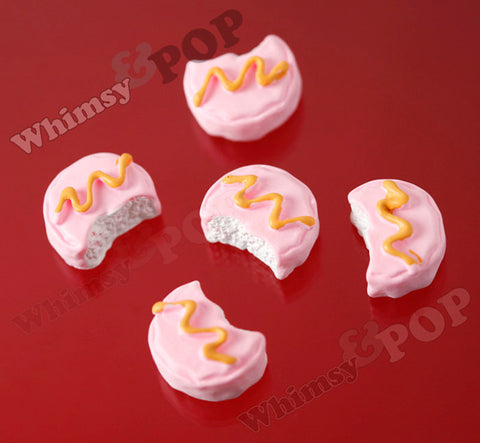 Iced Strawberry Cookie Biscuit Cabochons - WhimsyandPOP