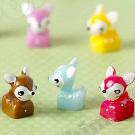 Mixed Color 3D Deer Cabochons