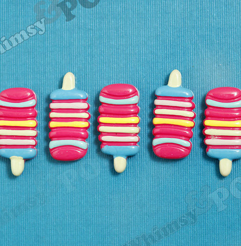 Rainbow Ice Cream Popsicle Cabochons - WhimsyandPOP