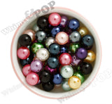 COOL PINK 16mm Metallic Pearl Gumball Beads - WhimsyandPOP