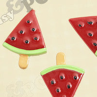 Watermelon On A Stick Cabochons - WhimsyandPOP