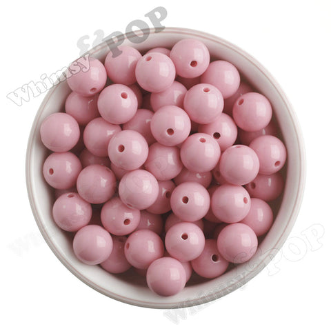 PASTEL PINK 16mm Solid Gumball Beads - WhimsyandPOP