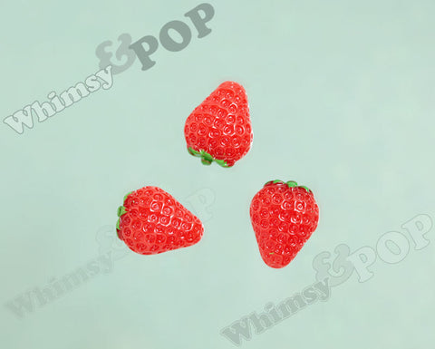 Juicy Strawberry Cabochons - WhimsyandPOP