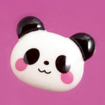 Blushing Black and White Panda Bear Cabochons - WhimsyandPOP