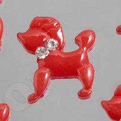 Red Poodle Cabochons